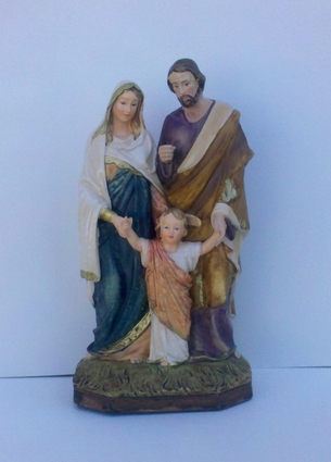 "Resin Holy Family Catholic Statue (8"" or 5"")"