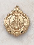 Baroque Style Gold Miraculous Medal