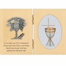 BRASS COMMUNION PLAQUE 76-10