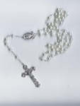 Affordable Pearl Rosary With a Large Crucifix