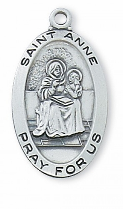 Choose a 2.4cm Oval Sterling Silver Medal of Your Favorite Patron Saint