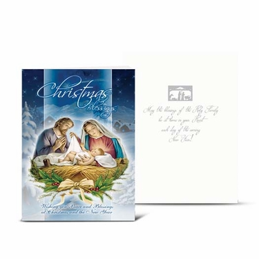 Christmas Nativity Scene (Holy Family) Greeting Cards: Pack of 10  CC-808