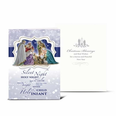 Christmas Nativity Silent Night Greeting Card: Pack of 10 CC-8102