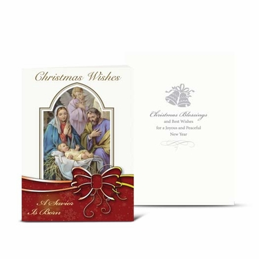 Christmas Nativity With Angels Greeting Cards: Pack of 10 CC-803