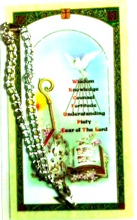 Comfirmation Bracelet and Holy Card