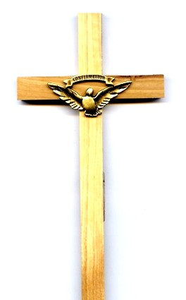 Confirmation Olive Wood Crucifix