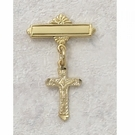 Crucifix Baby Pin -- 18kt Gold over Sterling