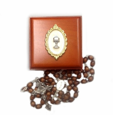First Communion Box and Rosary