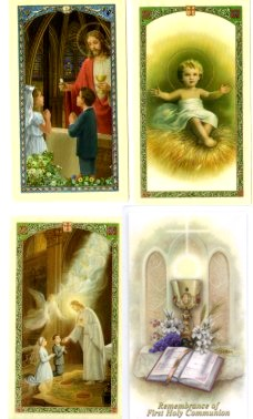 First Communion Laminated Holy Cards