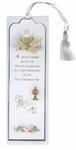 First Communion Laminated with Chalice Medal Bookmark