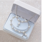 First Communion White Pearl Pendant and Bracelet Set