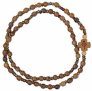 Five Decade Rosary Bracelet with 4mm Wood Beads, RBS4A