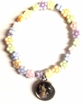 Flower Beads Angel Charm Bracelet
