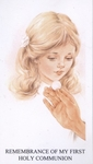 Girl Remembrance of My First Holy Communion Holy Card