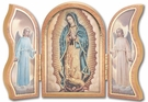 Gold Embossed Wood Our Lady of Guadalupe Triptych 1205.895