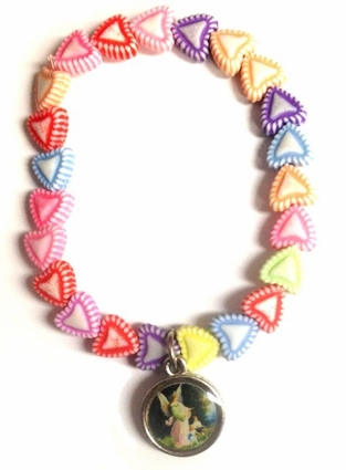 Heart Shape Beads Angel Charm Bracelet