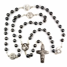 Hematite Pope Francis Rosary R430F