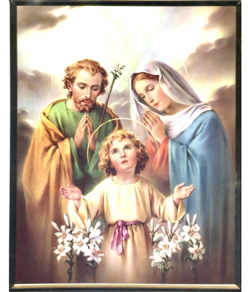 Holy Family with Jesus as a Child Wall Plaque