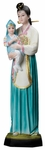 "Korean Madonna with Child 25"" Onyx Statue, OJ160"
