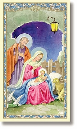 Nativity Christmas Holy Card