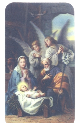 Nativity Novena 3D Holy Card