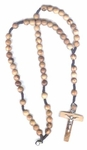 Necklace  Rosary--Olive Wood Beads