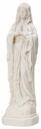 """Our Lady of Lourdes 7"""" Resin Statue, SJOL"""