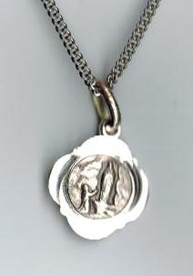 Our Lady of Lourdes Small Sterling Medal