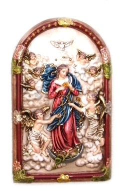 """Our Lady Undoer of Knots 11"""" Wall Plaque"""