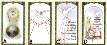 Paper Confirmation Holy Cards
