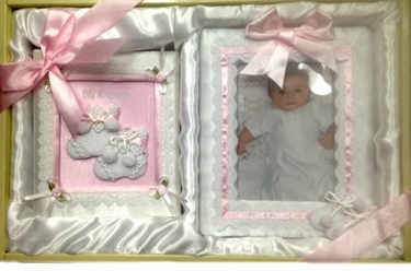 Pink Child of God Picture Frame Photo Album Gift Set