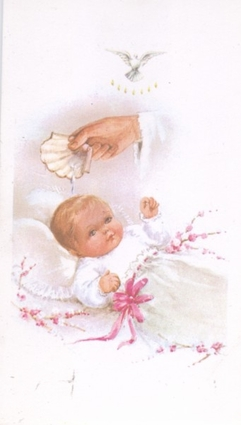 Remembrance of My Baptism Holy Card