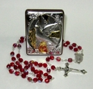 Rosary and Dove Plaque