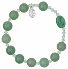Rosary Bracelet with 10mm Green Jade Beads, RBS2