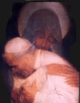 Saint John Paul II with Our Lady Of Czestochowa Picture Wall Plaque