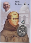 Saint Junipero Serra canonization card and medal