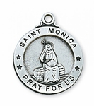 Saint Monica Medal 2.0 cm 20'' chain