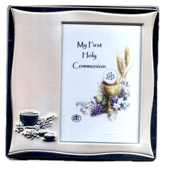 Silver Finish First Communion Photo Frame 48422