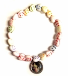 Smiley Face Heart Shape Beads Angel Charm Bracelet