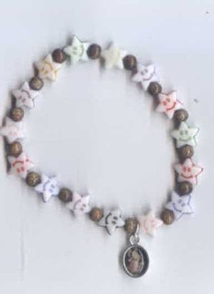 Smiley Face Star Shaped Beads Angel Charm Bracelet