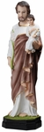 "St. Joseph with Christ Child 26"" Onyx Statue, OJ162"
