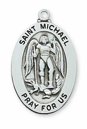 St. Michael Sterling Silver Medal
