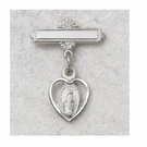 Sterling Silver Miraculous Medal Baby Pin