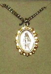 Sterling Silver two tone Miraculous Medal SM8497SH