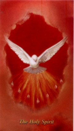 The Holy Spirit  Confirmation Holy Card