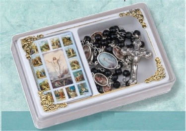 The Stations of the Cross Chaplet Rosary with Case and Booklet