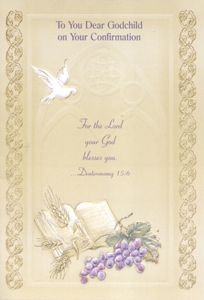 To You Dear Godchild on Your Confirmation - Greeting Card (36192)