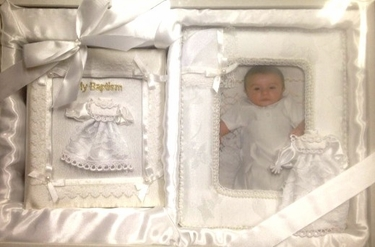 White Child of God Picture Frame Photo Album Gift Set