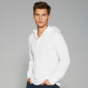 Bella + Canvas Men's Thermal Long-Sleeve Henley Hoodie
