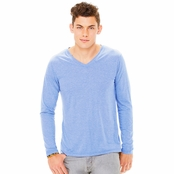 Bella + Canvas Men's Triblend Long-Sleeve V-Neck T-Shirt